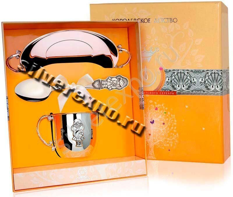 Серебряный подарок Малышке Фабрика серебра АРГЕНТА 006НБ05801
