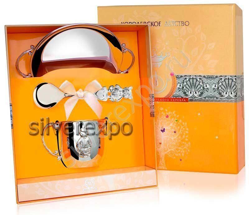 Серебряная посуда для мальчика Фабрика серебра АРГЕНТА 130702