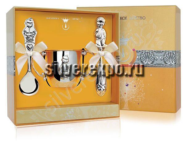 Серебряный набор Малыш Фабрика серебра АРГЕНТА 223-12