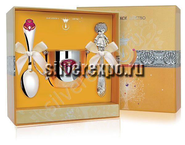 Серебро новорожденной Принцесса Фабрика серебра АРГЕНТА 477-23
