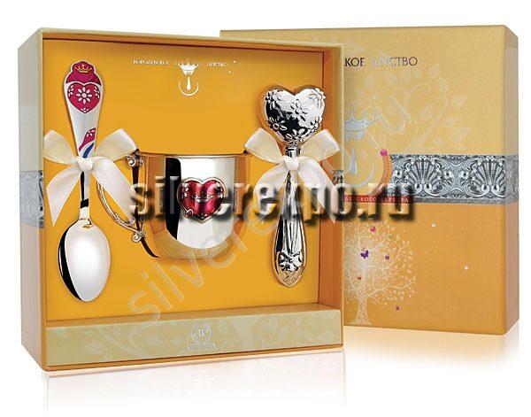 Серебряный подарочный набор Сердце Фабрика серебра АРГЕНТА 222-39