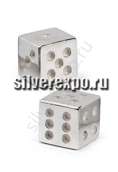 Серебряные кубики игральные Альтмастер Кострома АЛТ2221