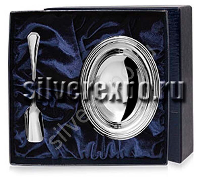 Серебряная сахарница Джентельмен в наборе Greggio Италия 802/2