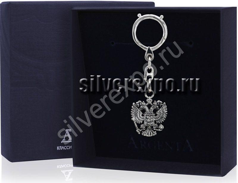 Брелок для ключей Герб Фабрика серебра АРГЕНТА 943БР15006