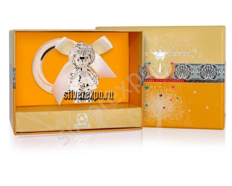 Серебряная погремушка Кукла Фламинго (Португалия) 1GI0081I