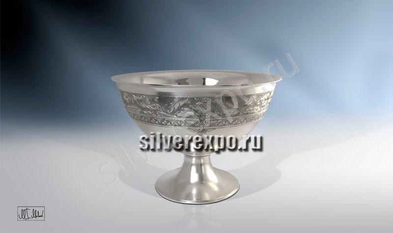 Серебряная конфетница Аленький цветок ЗАО «Мстерский Ювелир» 33684700125