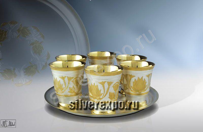 Серебряный набор для вина Лотос ЗАО «Мстерский Ювелир» 800825