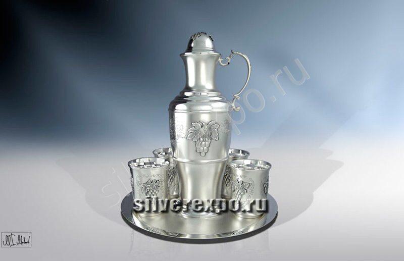 Серебряный набор для напитков Виноград ЗАО «Мстерский Ювелир» 803925