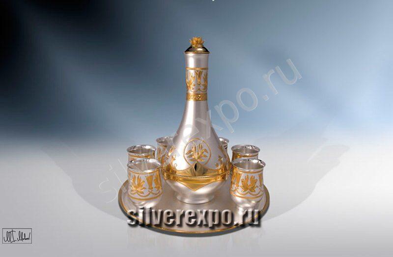 Серебряный набор для вина ЗАО «Мстерский Ювелир» 804125