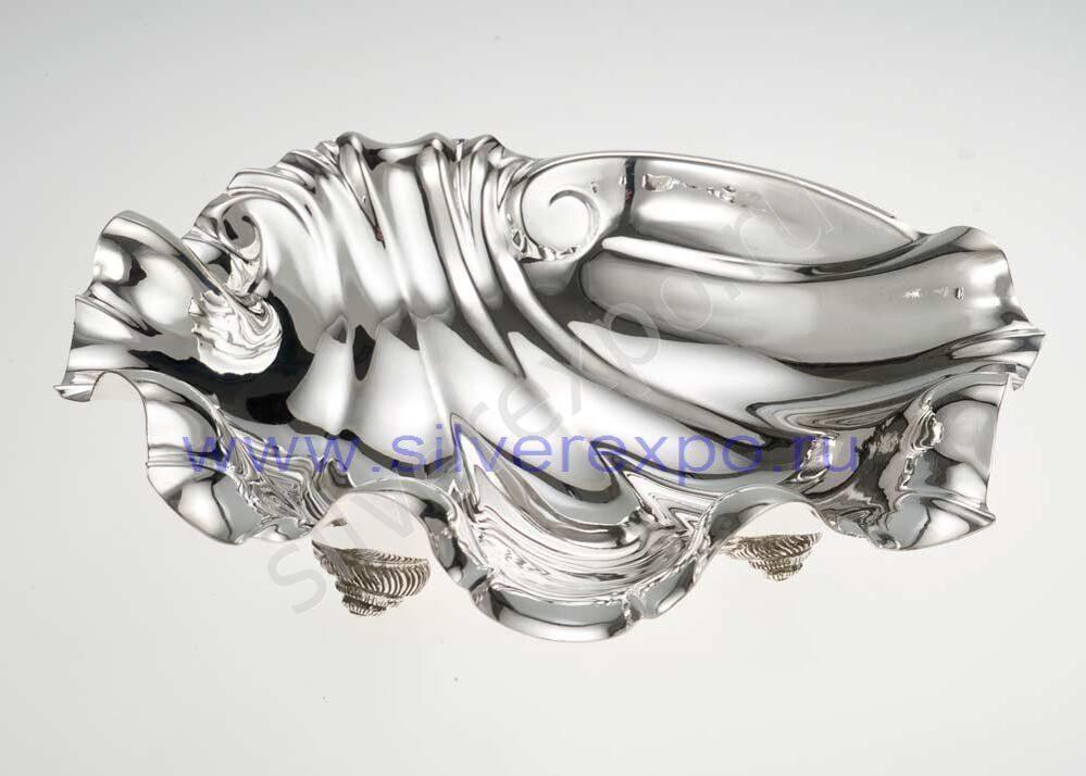 Серебряная ваза ракушка Calegaro Италия AK1321L