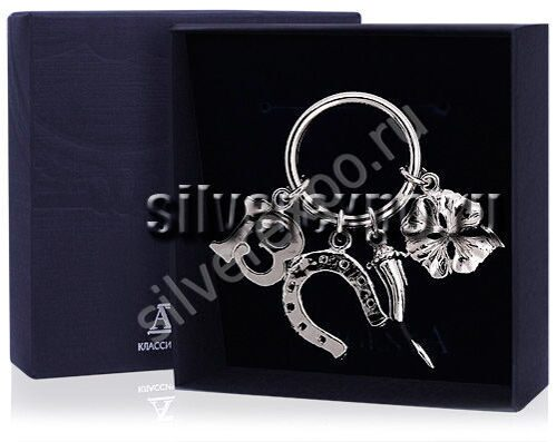 Серебряный брелок На Счастье Фабрика серебра АРГЕНТА 300БР15001