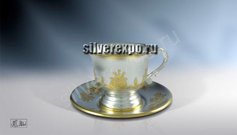 Серебряная чашка Ария ЗАО «Мстерский Ювелир» С33687601125