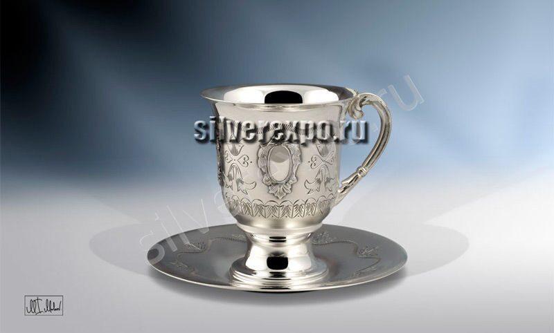 Серебряная чашка Подарочная ЗАО «Мстерский Ювелир» С33687601225