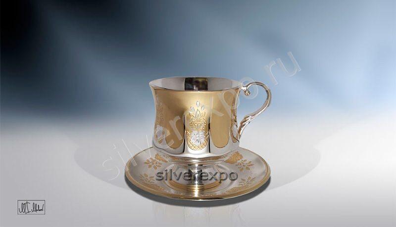 Серебряная чашка Стройная ЗАО «Мстерский Ювелир» C33687700425