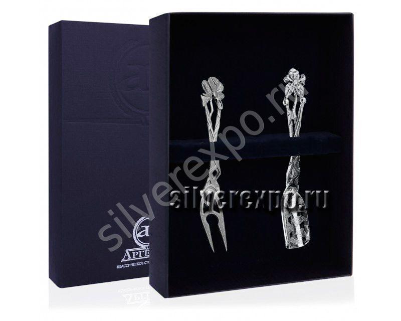 Серебряный набор для чая Чертополох Фабрика серебра АРГЕНТА 867НБ17006