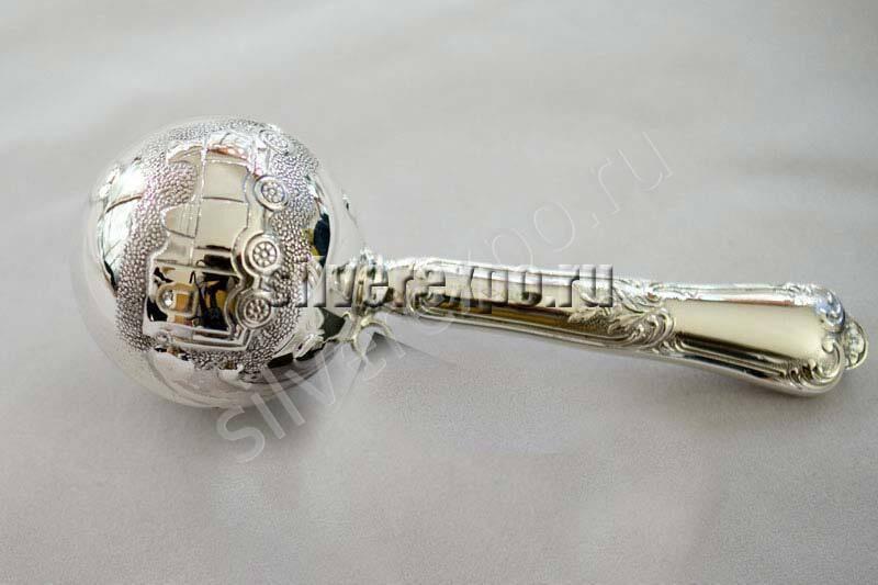 Погремушка серебряная Паровоз Zaramella Argenti (Италия) 8403-TR