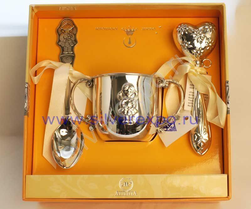 Серебряный подарок для девочки Фабрика серебра АРГЕНТА 0563-8а