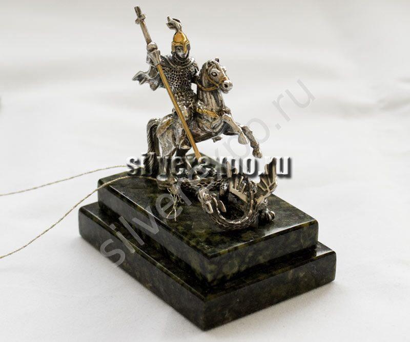 Серебряная статуэтка Георгий Победоносец ООО «Золотой Стандарт» 991757