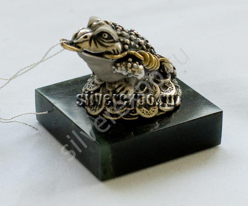 Серебряная фигурка Денежная жаба ООО «Золотой Стандарт» 991811