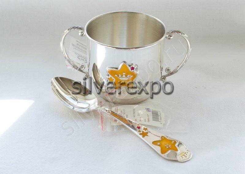 Серебряный набор Звезда Фабрика серебра АРГЕНТА 487НБ020032/2