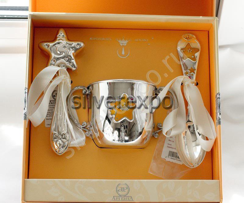 Серебряный подарок Звезда Фабрика серебра АРГЕНТА 487НБ020032/3