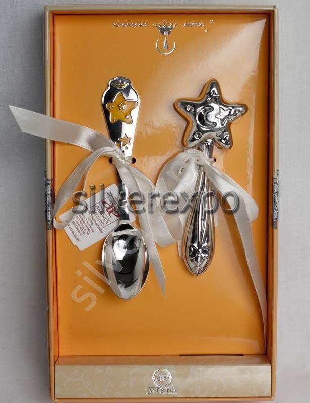 Серебряный набор Звездочка Фабрика серебра АРГЕНТА 158-91/а