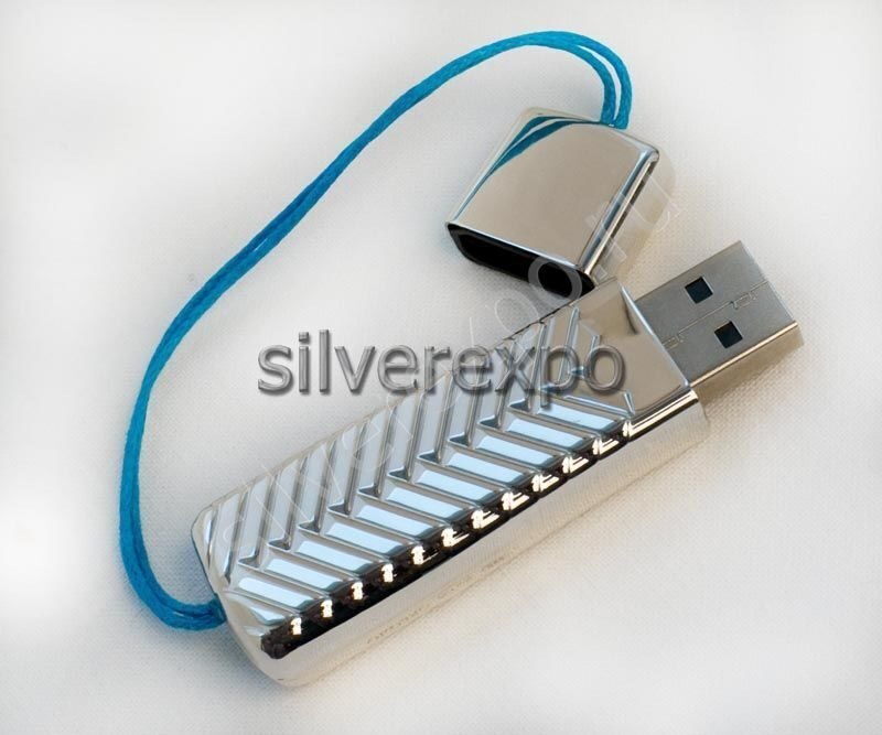 Серебряная флешка Greggio Италия 8600702