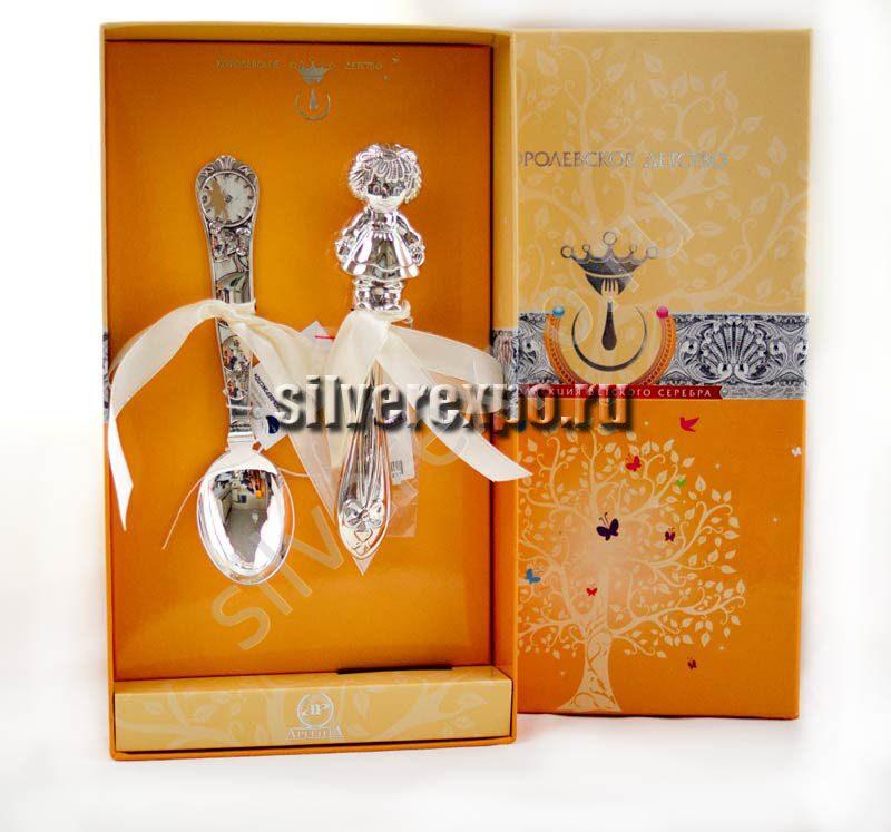 Подарок на рождение Девочки из серебра Zaramella Argenti (Италия) АЗ01003