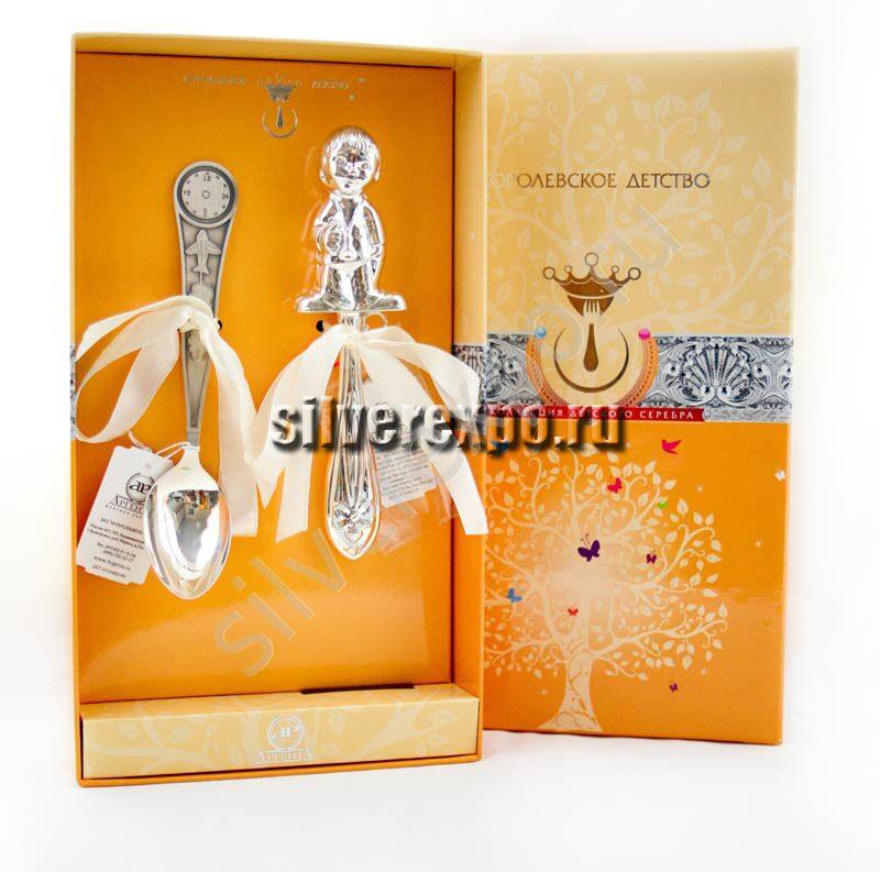 Подарок на рождение Мальчика из серебра Фабрика серебра АРГЕНТА АЗ01002