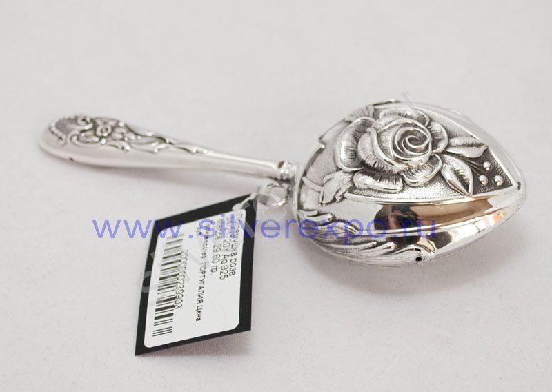 "Серебряная погремушка ""роза"" Topazio (Португалия) 34-21720Y"