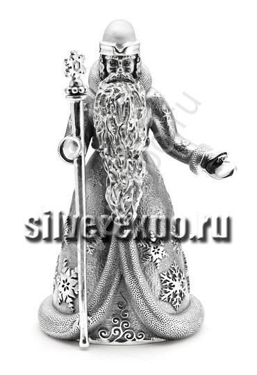 Серебряный колокольчик Дед Мороз Альтмастер Кострома АЛТ1023