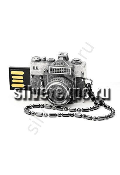 Серебряная флешка Фотоаппарат Альтмастер Кострома АЛТ2215