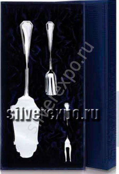 Серебряный набор для торта Элегант Фабрика серебра АРГЕНТА 046НЧ003