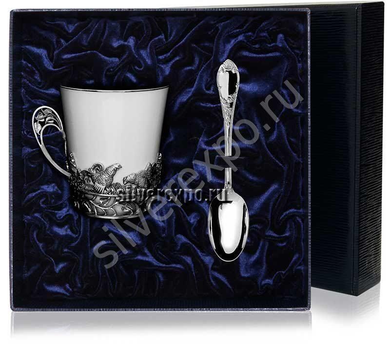 Набор для чая Глухарь Фабрика серебра АРГЕНТА 538-2
