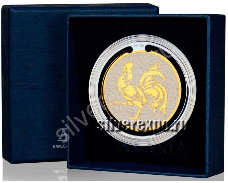 Серебряная закладка для книг Год Петуха Фабрика серебра АРГЕНТА 290ЗК22002-5