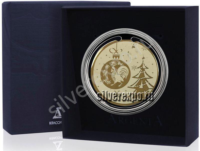 Серебряная закладка для книг новый Год Петуха Фабрика серебра АРГЕНТА 290ЗК22002-4