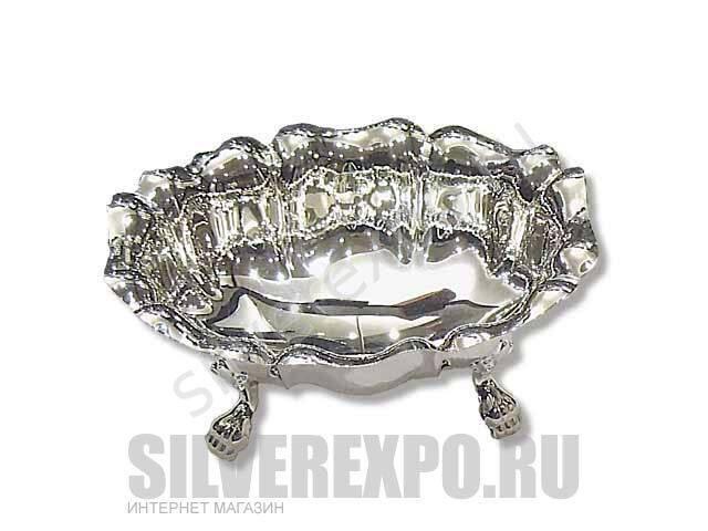 Серебряная сахарница с лепестками большая Greggio Италия 8970192