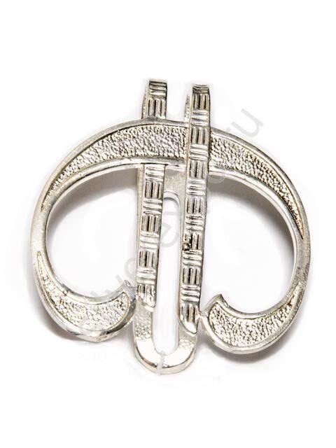 Зажим для денег из серебра Евро Фабрика серебра АРГЕНТА 0523Ж10001
