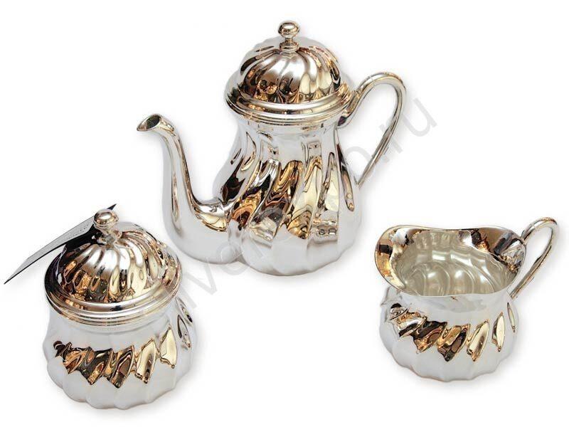 Чайный сервиз серебряный Argenterie Raddi Renato Италия СимAG66200
