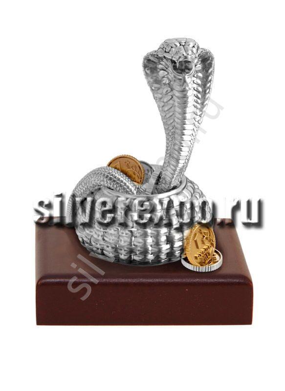 Статуэтка из серебра Денежная змея ООО «Золотой Стандарт» 992078