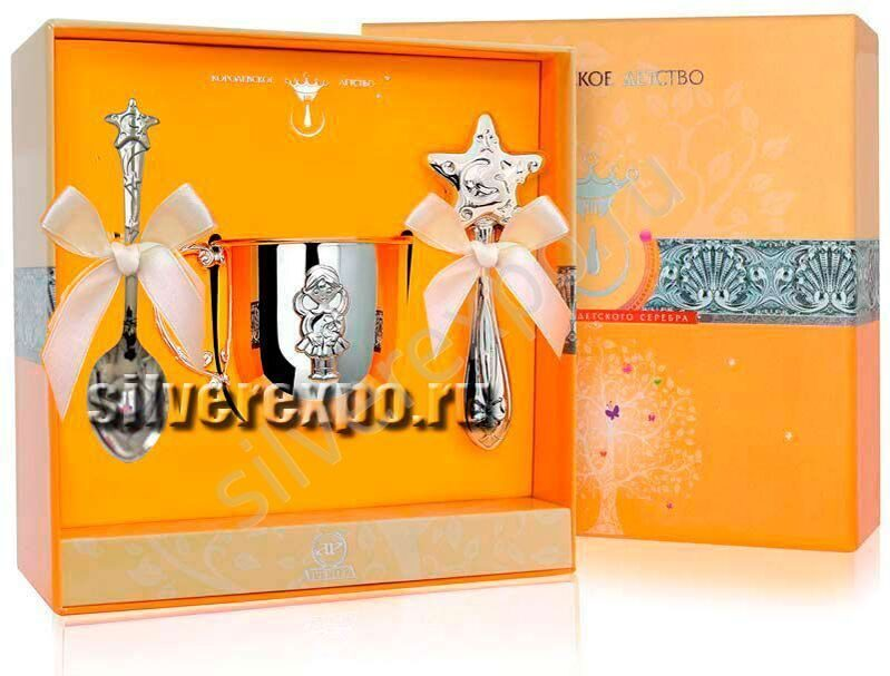 Серебряный набор для девочки Звезда Фабрика серебра АРГЕНТА 12213