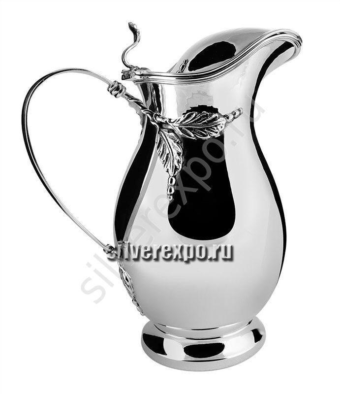 Кувшин серебряный Листок с крышкой Bicama Италия 00235/с