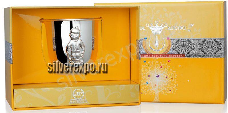 Детский серебряный стакан Мальчик Фабрика серебра АРГЕНТА 464СН05001