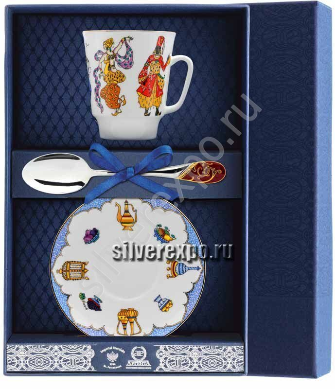 Чайный набор Шахерезада Фабрика серебра АРГЕНТА 020Ф03