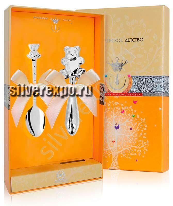 Серебряный набор Мишутки Фабрика серебра АРГЕНТА 3700422
