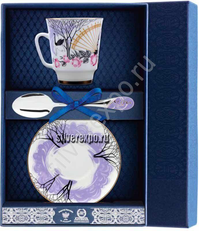 Чайный набор Посвящение Фабрика серебра АРГЕНТА 017Ф03