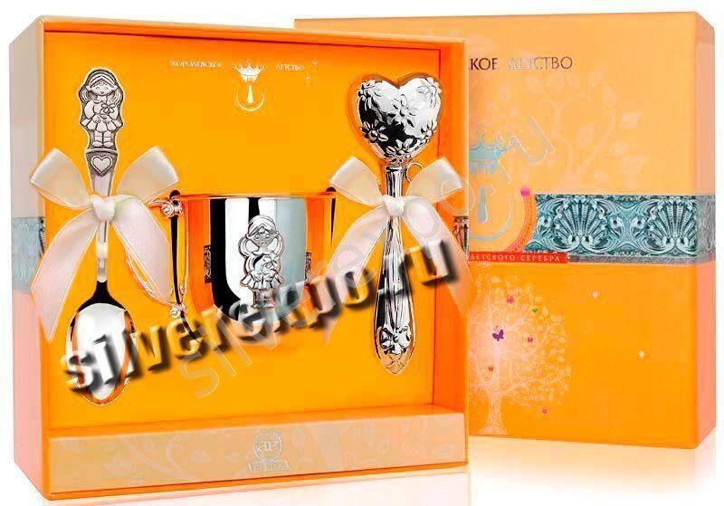 Серебряный набор для девочки Фабрика серебра АРГЕНТА 47302