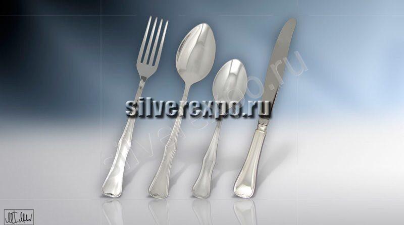 Набор столового серебра Изящный ЗАО «Мстерский Ювелир» 014НБ0504