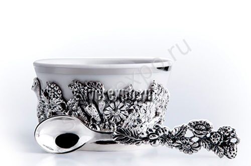 Серебряная солонка Натюрморт Фабрика серебра АРГЕНТА 632НБ00006
