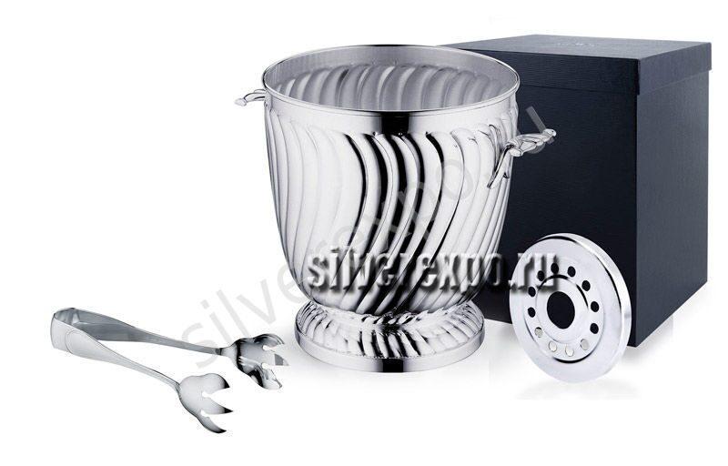 Ведёрко из серебра для льда волнообразное Greggio Италия 8750412